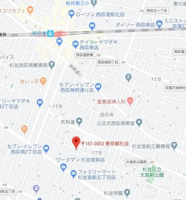 【地図】サニーソフィア西荻