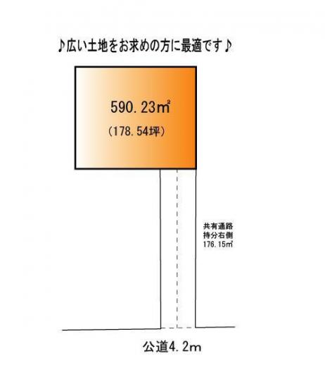 【区画図】行田市犬塚 売地