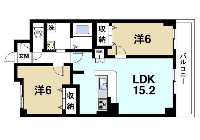 収納が充実しているので広く居室を使うことができます