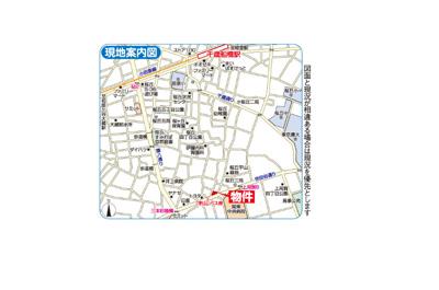 【地図】藤和世田谷桜丘コープⅡ