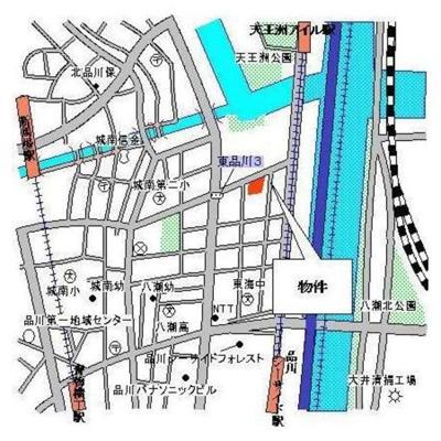 【地図】パークキューブ東品川