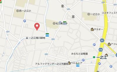 【地図】ルミエール・リッシュ松江