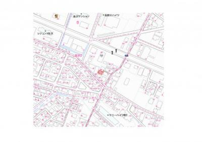 【地図】徳島市金沢2丁目土地