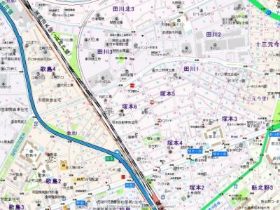 【地図】プライムコート塚本