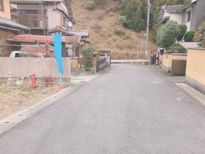 【前面道路含む現地写真】京都市伏見区日野野色町 土地