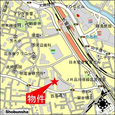 【地図】大崎ウエストシティタワーズWEST