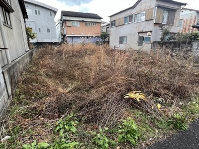 【前面道路含む現地写真】高知市中水道売地