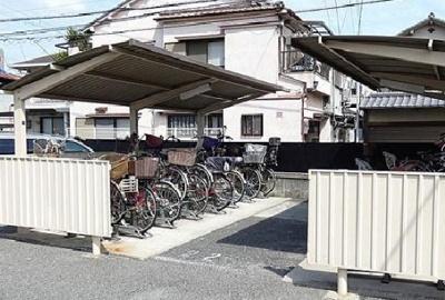 駐輪場です!