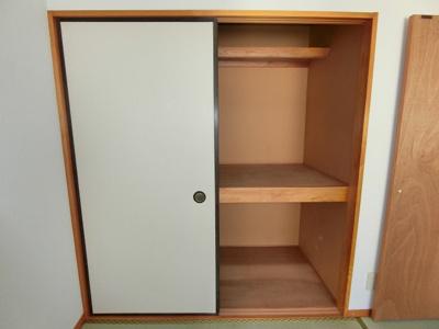 和室6帖◆押入れ◆こちらにも天袋があるので、収納力に自信あり