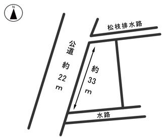 【区画図】54195 羽島市正木町曲利土地