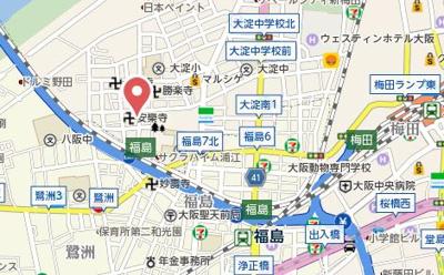 【地図】アクア西梅田Ⅲ