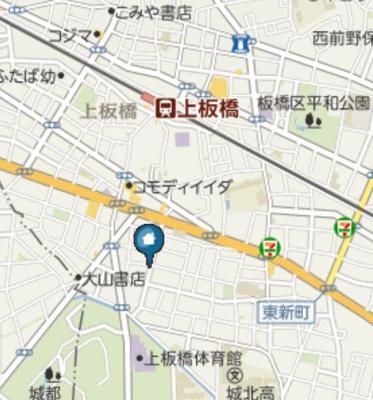 【地図】パークFLATS桜川
