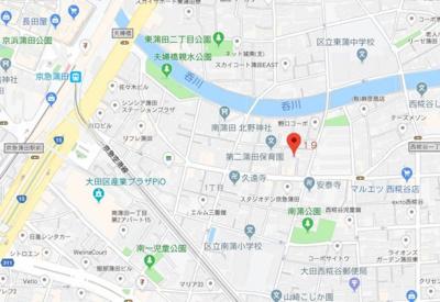 【地図】アイディ蒲田