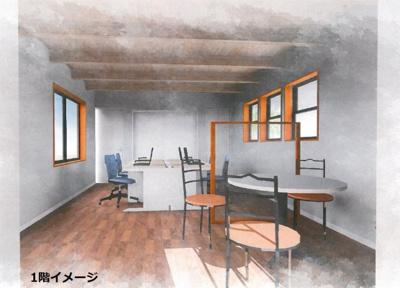 【居間・リビング】東町2階建てテナント