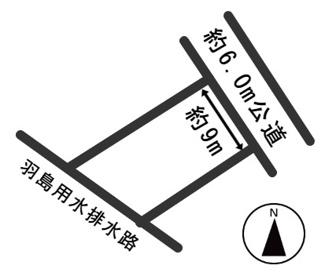 【区画図】54188 羽島市小熊町川口前土地