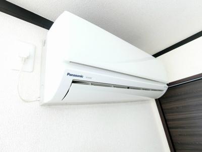 嬉しい全居室エアコン付き♪ムシ暑い夏も肌寒い冬も快適に過ごせますね♪