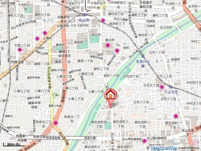 【地図】土居ビル
