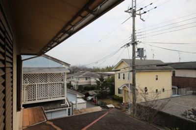 二階から琵琶湖が見えます