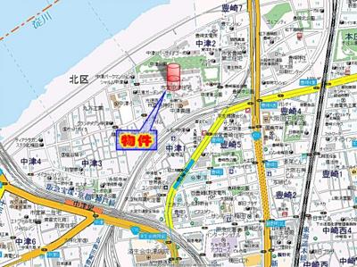 【地図】エスリード中津