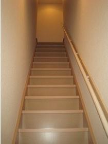 IL PALAZZO曳舟の玄関先の室内階段(メゾネット)☆