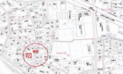 【地図】岡山市中区平井6丁目 売地