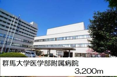 群馬大学医学部附属病院まで3200m