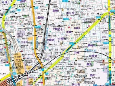 【地図】フェリーチェ梅田北
