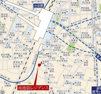 【地図】南池袋レジデンス