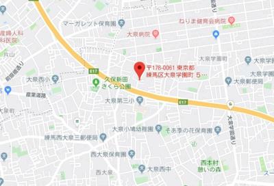 【地図】ヴィアロ大泉学園町レジデンス(59305-104)