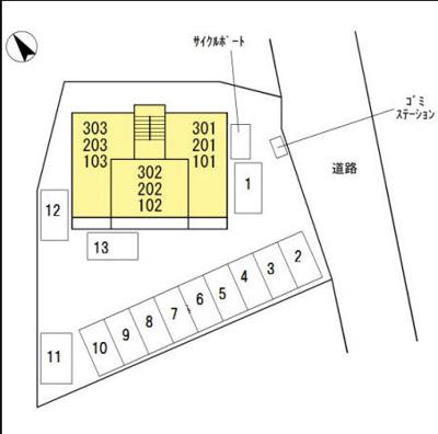 【区画図】エスポワール・K