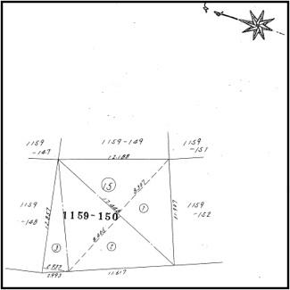1159-150(地目:宅地、地積:164.67㎡)
