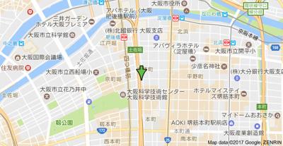 【地図】ジュネーゼグラン淀屋橋