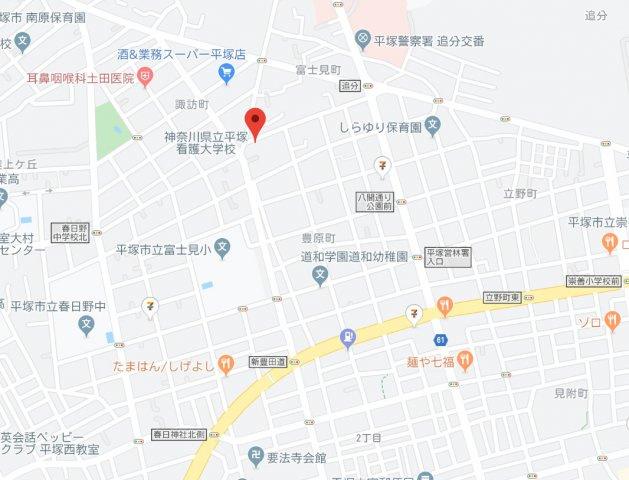 【地図】建築条件なし土地