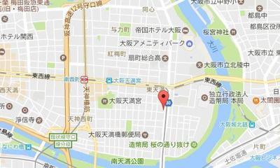 【地図】ハーツ天満橋