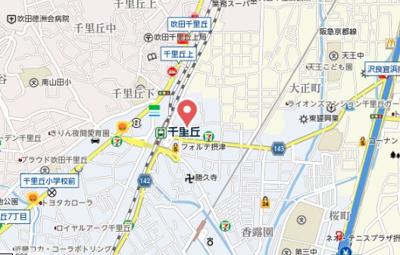 【地図】ルルオブ千里丘プログレッソ