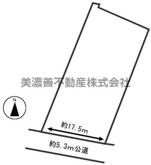 【区画図】54497 岐阜市柳津町南塚土地
