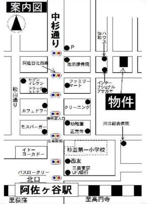 ライフピア阿佐ヶ谷北の地図☆