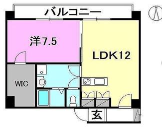 【間取り】松山市平和通3丁目一棟マンション