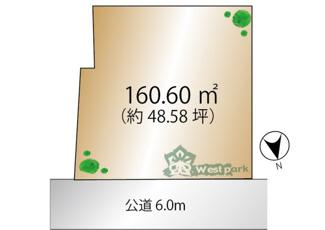 【土地図】新宿区歌舞伎町2丁目 建築条件なし土地