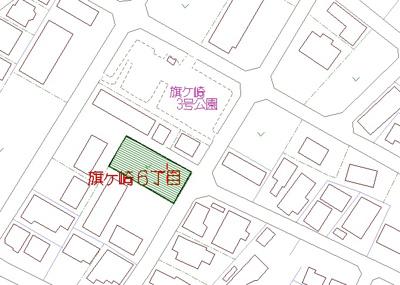 【地図】旗ヶ崎6丁目売地