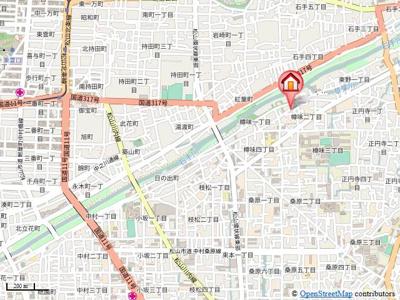 【地図】フォブール樽味・