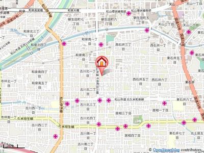 【地図】フィネス幸・