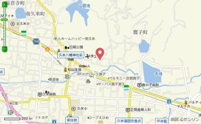 【地図】鷹子安永賃貸住宅