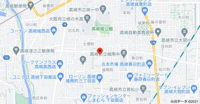 【地図】カセイハイツ