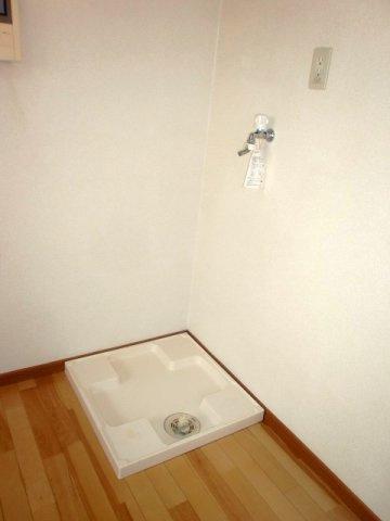 女性の方の多い条件の、室内洗濯機置場です。