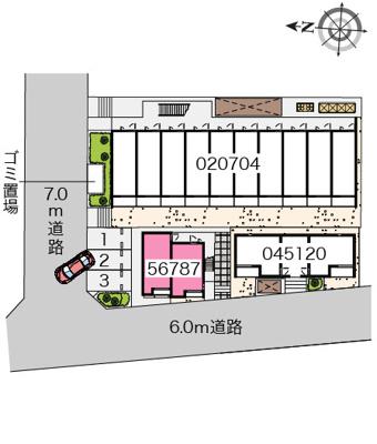 【区画図】ヒューゲル七番館