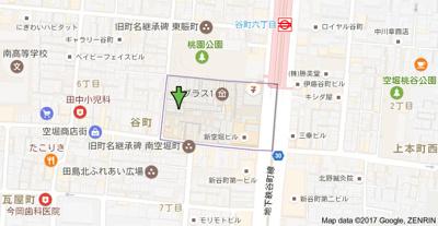 【地図】JPアパートメント大阪谷町