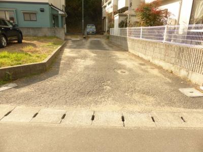 【前面道路含む現地写真】岡山市藤井 売地36坪