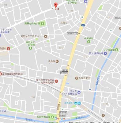 【地図】グランド練馬