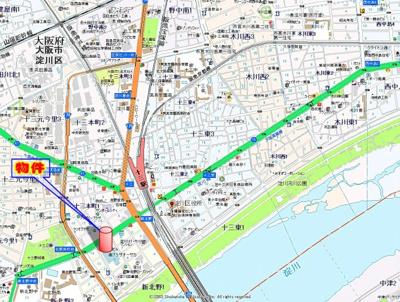 【地図】ウィング新北野